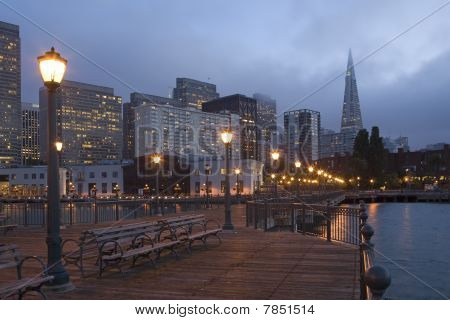 San Francisco Waterfront at Night