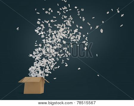 Letters Flying Out Of Box