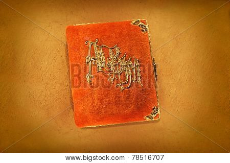 Antique Orange Photo Album