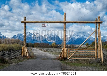Ranch gate in Grand Teton