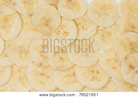 Banana slices background