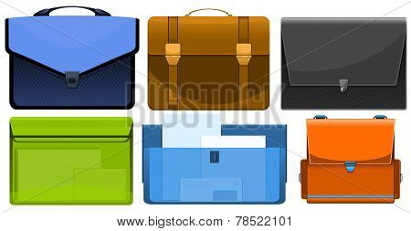 different briefcases