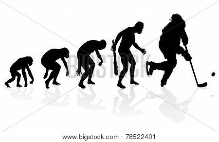 Evolution Of The Ice Hockey Player.