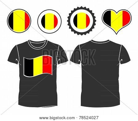 t-shirt with the flag of Belgium
