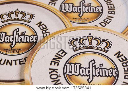 Beermats From Warsteiner Beer
