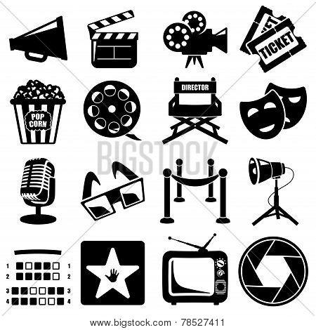 Vector cinema icon set