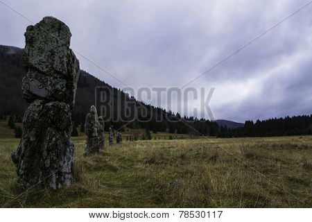 Old Stone Monument Matich poljana