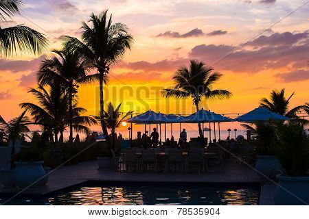 Beautiful Sunset In Providenciales On Turks And Caicos