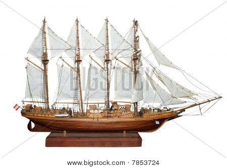 Antique Model Sailing Ship