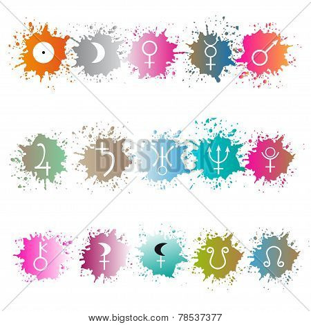 Stock vector of planet sign. Astrological simbol