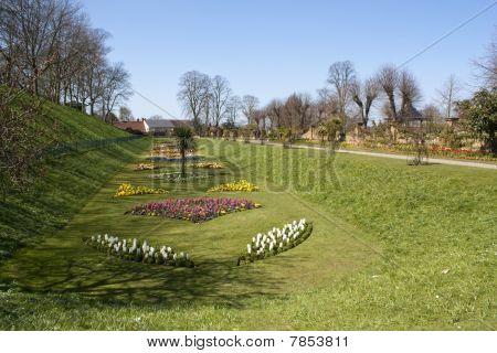 Parque del castillo en Colchester