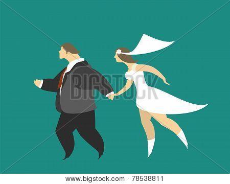 Escaped Bridal Couple