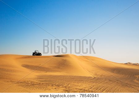Buggy bike in a desert