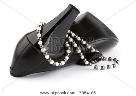 High Heels Shoe And Beads