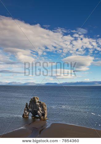 Hvitserkur, rock formation in Hunafjordur, Iceland