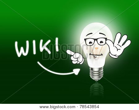 Wiki Bulb Lamp Energy Light Green