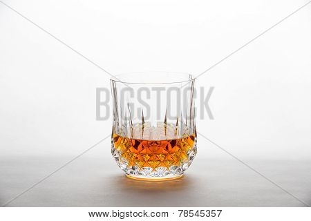 Whisky In A Diamond-cut Glass