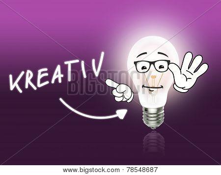 Kreativ Bulb Lamp Energy Light Pink