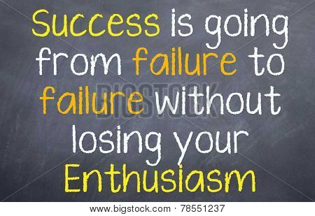 Success from failure after failure