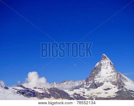 Zermatt Switzerland, Green Car-free City Matterhorn View