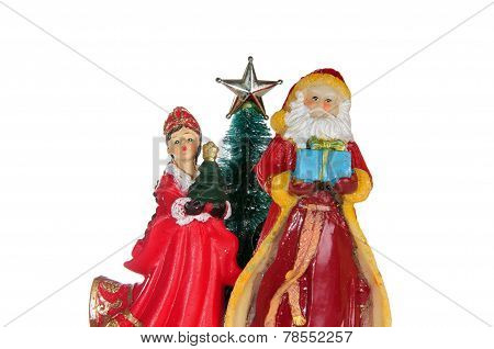 Santa Claus and snegurochka
