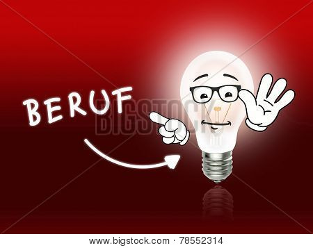 Beruf Bulb Lamp Energy Light Red