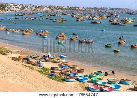 Fisherman's Village On Beach