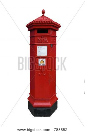 Victorian Postback isolated on white background