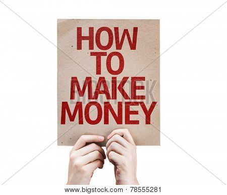 How To Make Money card isolated on white background