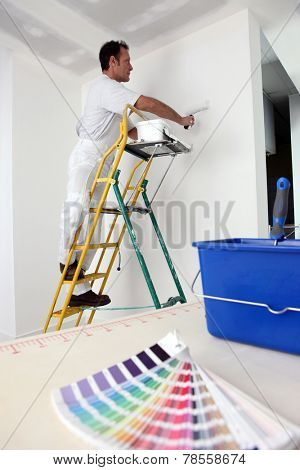 Decorator painting base coat