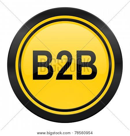 b2b icon, yellow logo,