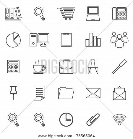 Office Line Icon On White Background