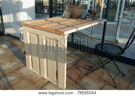Creative Table Made Of Doors