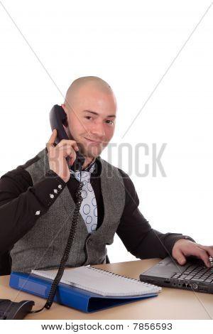 Businessman Office Desk
