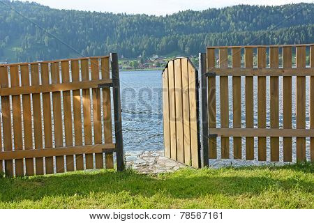 Fence And Lake