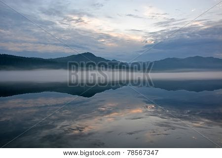 Sunrise At The Teletskoye Lake
