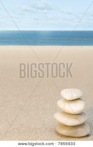 Balanced Stone On Beach