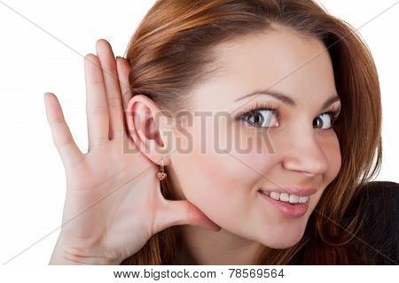 Young Woman Listening