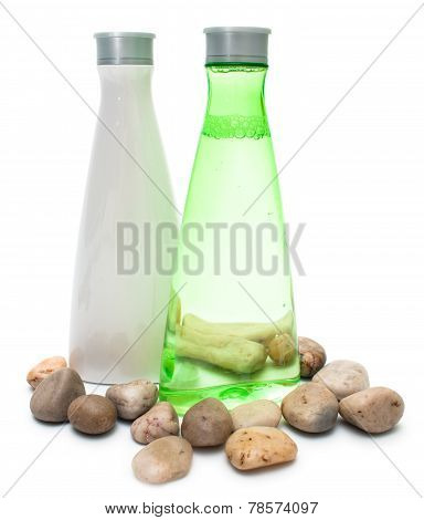 Spa Bottles (green And White)