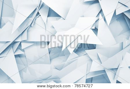 3D Background With Chaotic Triangle Polygonal Pattern