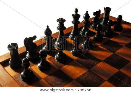 black chess army