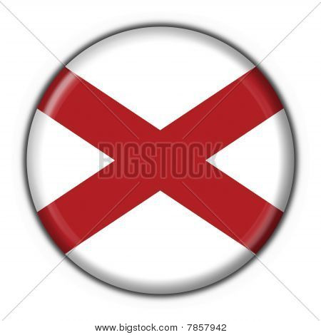 Alabama (usa State) Button Flag Round Shape