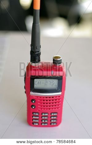 Red Walky Talky Equipment For Construction Business