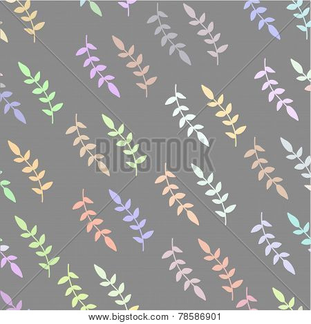 Pastel colorful diagonal brunch hand drawn seamless pattern.