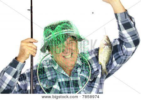Pescador com Net