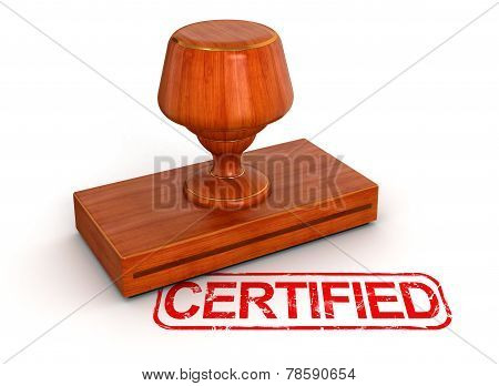 Rubber Stamp certified (clipping path included)
