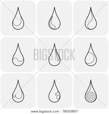 Abstract symbols  of a drop water