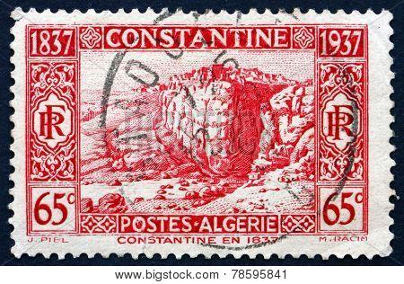 Postage Stamp Algeria 1937 Constantine In 1837