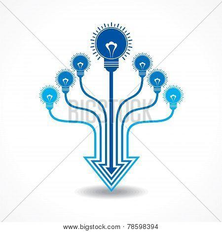 Light-bulb make arrow design stock vector
