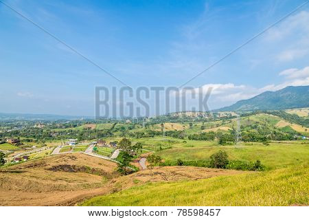 Bird Eye View Of Khao Kho, Petchabun, Thailand